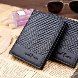 Wholesale Business Cards Free Simple - Free Shipping-European popular New England simple style men soft leather wallet