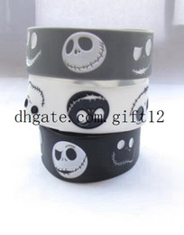 Wholesale Cartoon Plastic Fan - mix 50PCS Lot Cartoon Nightmare Before christmas Silicone Wristband, An Alternative Style Bracelet For Animation Fans