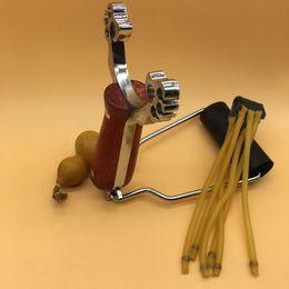 Wholesale Wrist Slingshot Hunting - Slingshot Powerful Folding Wrist Brace Support Shot Aluminium Alloy Slingshot Outdoor Hunt Hike Bow Catapult