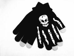 1 Пара Коготь Glovesplastic Вязаная Шерсть Призрак Кости Перчатки Мужчины Женщины Хэллоуин Партии Череп Скелет Перчатки от