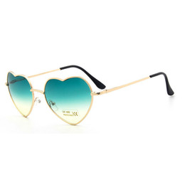 Wholesale Black Heart Shaped Sunglasses - Funny lovers sunglasses Hot Peach-heart-shaped discoloration glasses Classic personality Women sunglasses UV resistant and light sunglasses