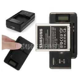 Wholesale Dock Cellphone - Widen Battery Charger Intelligent LCD Indicator USB Output Charger US And EU Plug Dock Charger For Universal Cellphone with Retail Package