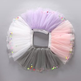 Wholesale Colorful Tutus For Girls - 5 Colors Summer Colorful Ball Net Yarn skirt for Kids Children Short Party Dance Skirt Baby Girls TUTU Skirts