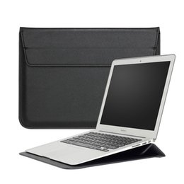 Wholesale leather 13 inch macbook case - Macbook Sleeve With Stand Laptop case Shiny PU leather For Macbook 11Inch 13Inch 15Inch Pro Retina OPP BAG
