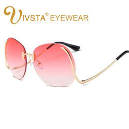 VSTA 2017 Hipster Sunglasses Mujeres Gafas de Gran Tamaño Color Mar Lense Sin Marco Gafas de Sol Fiesta de Moda Estilo Caliente Verano desde fabricantes