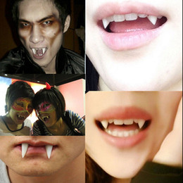Wholesale Zombies Props - Wholesale-4 PCS Novelty Gag Toys Dress Vampire Teeth Halloween Party Dentures Props Vampire Zombie Devil Fangs Tooth