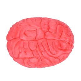Wholesale horror haunted house - Wholesale- Prop Rubber Horror Fake Scary Human Brain Haunted House Organ Body Horror Prop Decor Gag Toys Part Halloween Decoration