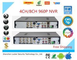 Wholesale Dvr 8ch Audio - Lucker Security 4CH 8CH AHD DVR 960P 25 30fps AHDNH CCTV 4  8 Channel NVR Multi-language alarm Support Audio P2P