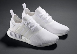 Wholesale Cheap Shoe Brands - NMD Running Shoes Boost Perfect Primeknit White Shoes Sneakers Cheap Sneakers Brand NMD Athletic Shoes Hot Sale NMD Runner Primeknit Wears