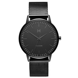 Wholesale Mesh Watches - 2017 Hot Sale New Business Quartz Women Lovers watch Men sport Military Watches Men Steel Mesh army wristwatch clock hours Complete Calendar
