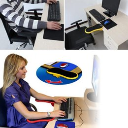 Wholesale Wrist Mouse Pad - Hand Shoulder Protect armrest Pad Desk Attachable Computer Table Arm Support Mouse Pads Arm Wrist Rests Chair Extender for Table