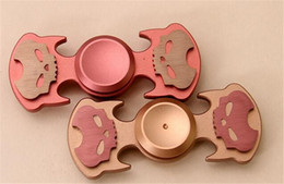 Wholesale Top Toys For Women - TOP skull head fidget Spinner Fingertip vision spinner Gyro hand Spinner Decompression Anxiety Toys for men and women EDC aluminium alloy