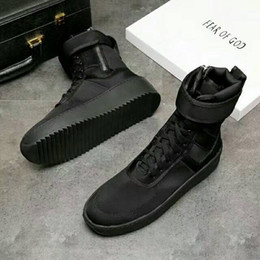 Wholesale Italy Dhl - DHL Fear of God Fog Winter Boots With Original Box Made in Italy Men Women Winter Shoes fear of god High shoe FOG black white military boots