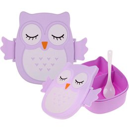 Wholesale Cartoon Plastic Lunch Box - 1050ml Cartoon Owl Lunch Box Food Fruit Storage Container Portable Bento Box Food-safe Food Picnic Container for Children Gifts