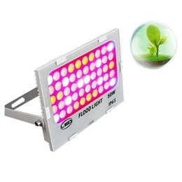 Wholesale Hps Red - Full Spectrum Grow Light Kits hps 50W Slim Led Grow Lights Flowering Plant and Hydroponics System Led Plant Lamps AC 85-265V red blue