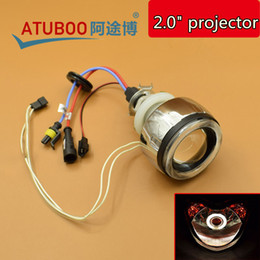 """Wholesale Motorcycle Projector Kit - 12V 35W 2.0"""" Motorcycle Projector Lens Kit With CCFL Angel Eyes Halo Ring Using H1 Xenon Bulb Different Color"""