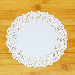white paper placemat Australia - Free shipping,colored paper doilies,10.5inch=26.7cm, white round paper lace doilies placemat,wedding party tableware decoration