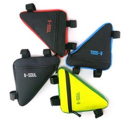 Wholesale Bicycle Triangle Frame Bag - 4 Colors Waterproof Triangle Cycling Bicycle Bags Front Tube Frame Bag Mountain Bike Triangle Pouch Frame Holder Saddle Bag Hot