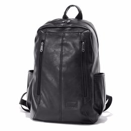 Wholesale Stylish Bags For Men - Wholesale- 2016 Famous Designer Men Stylish Backpacks PU Leather School Bags For Teenagers Large Capacity Vintage Travel Bags ShengBaoLi