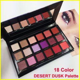 Wholesale Cosmetics Glitter Makeup - Newest Beauty Desert Dusk eyeshadow palette 18 colors Shimmer Matte beauty eye shadow palette Pro Eyes Makeup Cosmetics free shipping