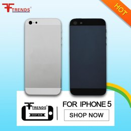 Wholesale Complete Housing - White Black Complete Housing Back Battery Door Cover Mid Frame Assembly for iPhone 5 Free Shipping