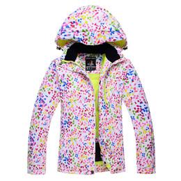 Wholesale Sport Snowboard Jackets - Wholesale- Dots Snow jackets women Ski Jacket outdoor sports Snowboard Clothes costume Windproof Wartproof winter Warm skiing coat
