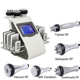 Argentina 2017 caliente 40 k 6in1 máquina de adelgazamiento de la quema de grasa láser cavitación ultrasónica RF lifting de la piel liposucción pérdida de peso instrumento de masaje corporal Suministro