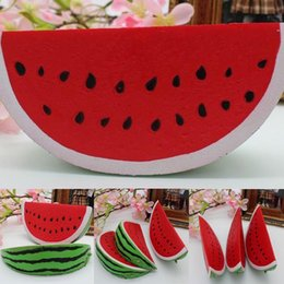 Wholesale Fruit Cakes - Wholesale New Squishy Kawaii 14.5cm Jumbo Watermelon Super Slow Rising Squeeze Soft Stretch Scented Bread Cake Fruit Fun Kids Toys Gift