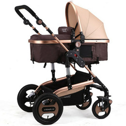 Wholesale Luxury Prams - Luxury Newborn Stroller Baby Foldable Anti Shock Pushchair Pram High View Carriage Infant Stroller for Travel Systems Carriage Toddler