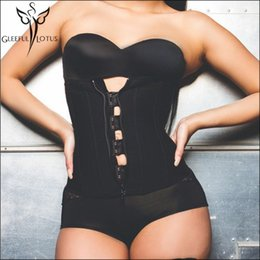 a7c6bf608b Wholesale- Hook Zipper Rubber Latex Waist Trainer Sexy Corsets and Bustiers  bodysuit women Cincher Corset Tops Slimming sheath Shapewear