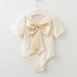 6bc55f5e99f Baby Girls Lace Rompers Kids Girls Floral Embroidery Jumpsuit 2017 Infant  Toddler Big Bowknot One-piece Princess Romper Children Clothing discount  kids ...