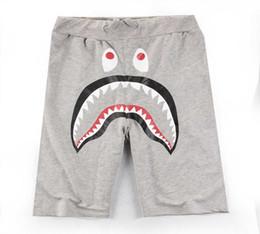 Wholesale Active Skateboards - Summer Men's Shark Pants Shorts Cotton Black Gray Causal Shorts Men Casual Camouflage Skateboard Short Pants Loose Streetwear Free Shipping