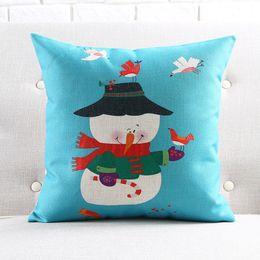 Divano di calze online-Sedia Dobby Babbo Natale Federa Cuscino Festival di Natale Federa Calze di Natale Camera da letto Divano Decorazione