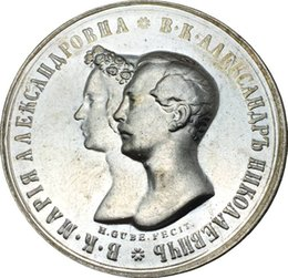 Wholesale Russia Antique - The One And Only   Russia Coins 1841 CNB 1 Rouble Copy Coin Brass Plated Silver