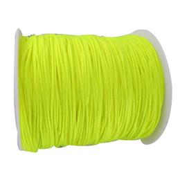 Wholesale Yellow Braided Bracelets Wholesale - 1.5mm Neon Yellow Rattail Stain Braid Nylon Cord Thread+200m Macrame Rope Shamballa Bracelet Beading Cords String Accessories