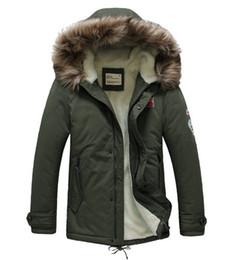 Wholesale Mens Winter Parkas - Wholesale- 2016 New Parka Men Warm Mens Parka Jacket with Fur Hood Fashion Thick Parka Men Winter Long Free Shipping