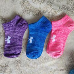 Wholesale Girls Kids Football - EPACKET 2018 high quality UA brand Boys and girl Socks Ankle Skateboard Socks Football kids Cheerleaders Socks Boat Short Sports 60PAIR DHL