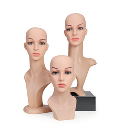 Wholesale Female Mannequin Head Display - Female Mannequin Heads for Clothing Hat Jewelry and Wig Hair Display or Shooting PVC Plastic Material Europe Style and can Dismounting