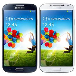 Wholesale S4 Core - Refurbished Original Samsung Galaxy S4 i9500 i9505 5.0 inch HD Quad Core 1.9GHz Wifi 3G 4G Unlocked Smart Phone Original Battery DHL 1pcs