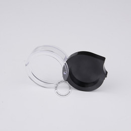 Wholesale Wholesale Glass Powder Container - Excellent Cosmetic Containers 50 x 2g 2ml Plastic Eyeshadow Powder Blush Lipstick Jar Black+Clear Sample Display Box