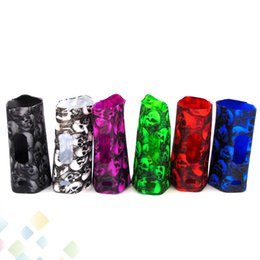 Wholesale Skull Cover Case - RX200S Silicone Case Skull Head Fashion Rubber Sleeve Protective Cover Skull Skin For RX 200S TC Box Mod DHL Free
