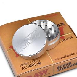 Molinillos fáciles online-Aluminio crudo Especias de hierba Molinillo de hierba 50 mm Aluminio 2 capas Fácil de usar con empaques de alta calidad