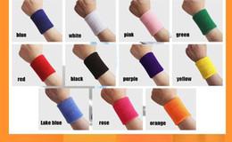 Wholesale Black Bracers - Wholesale Wrist Support Outdoor Accessory Sporting Bracers Sweatbands Protective Elastic Wrist basketball Speedminton tennis sport wristband