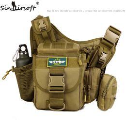 Wholesale Travelling Camera Bag - Sinairsoft Man Casual Travel shoulder Bags High quallity Bags Camera Multifunctional Men 1000D Nylon Messenger Bag