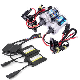 Wholesale Hid Slim Ballast Kit 55w - 1 set Auto HID single light 55W H7 6000k 8000K Slim Ballast Kit HID Xenon Bulb 12V hight power Headlight
