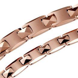 Wholesale Male Ring Black Titanium - Genuine KOTO Germanium titanium magnetic tungsten steel Mosaic gold anti-radiation anti-fatigue magnets male lady bracelet birthday gift