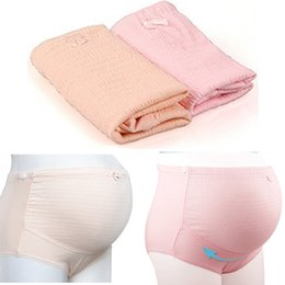 Wholesale Pregnant Comfortable - Brand New Women Girls Pregnant Maternity Underpants Intimates Brief Panties Belly Underwear Cotton Comfortable 2 Colors KD27 Free Shipping