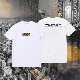 camicia di stampa dell'ancora di bianco dell'uomo Sconti Fashion brooklyn Box Logo magliette Hip-Hop Skateboard O-Collo Maglietta classica estiva manica corta in cotone S-XL