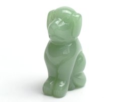 Wholesale Sculpture Home Decoration - 2.0 INCHES Natural Green Aventurine Carved Crystal Reiki Healing Dog Statue Animal Totem Sculpture
