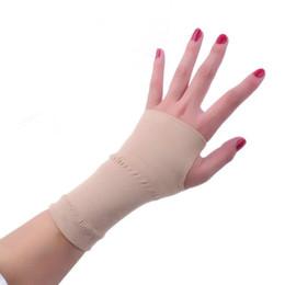 Wholesale Gloves Arthritis - Wholesale- 2 Pcs Men Women Elastic breathable Wrist Support Relief Prevent arthritis Basketball Tenis Volleyball Fitness Gloves Wristband